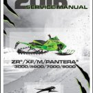 2016 Arctic Cat ZR XF M Pantera 3000 5000 7000 9000 Snowmobile Service Manual CD