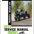 2014 Arctic Cat Wildcat X / Wildcat 4 - 4X ROV Service Repair Workshop Manual CD