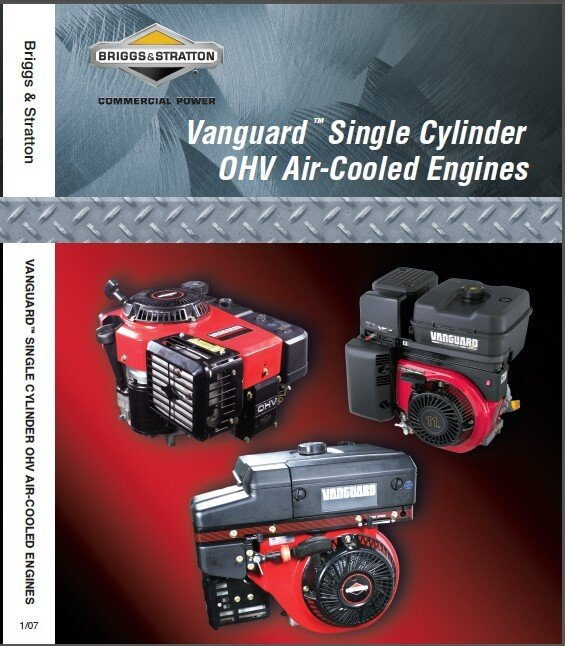 Briggs & Stratton Vanguard OHV Single Cylinder Engine Service Repair Manual CD