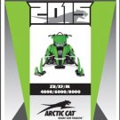 2015 Arctic Cat ZR XF M 4000 6000 8000 2-Stroke Snowmobiles Service Manual CD