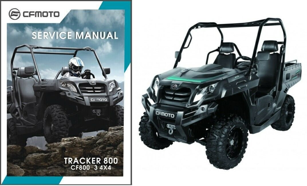 CFMoto CF800-3 Tracker 800 4X4 UTV Service Repair Manual CD CF Moto CF 800 3 U8