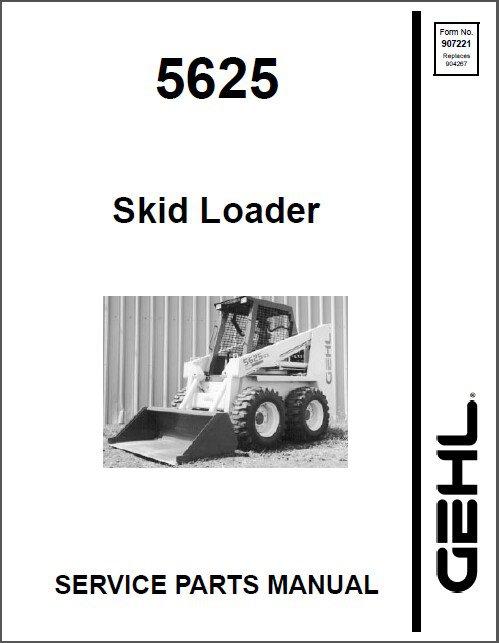 Gehl 5625 Skid Steer Loader Service / Parts Manual on a CD