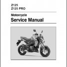 2016-2017 Kawasaki Z125 / Z 125 Pro Service Manual on a CD