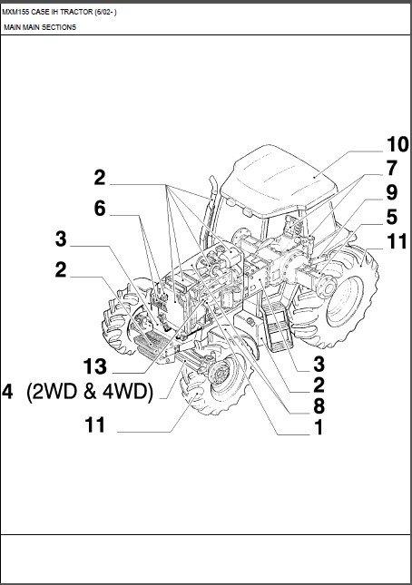 Case IH MXM155 Maxxum Tractor Parts Manual on a CD - MXM 155