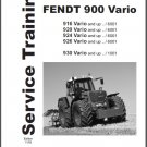 FENDT 900 916 920 924 926 930 Vario Tractor Service Manual on a CD