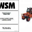 Kubota L3130 L3430 L3830 L4630 L5030 Tractor WSM Service Workshop Manual CD