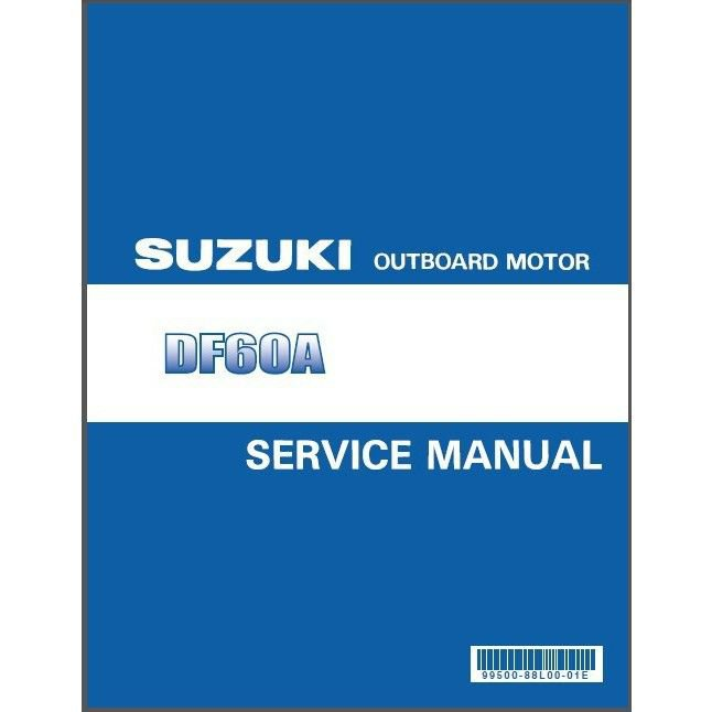 Suzuki DF40A DF50A DF60A Four Stroke Outboard Motor Service Manual on a CD