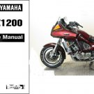 1983-1993 Yamaha XVZ1200 Venture Royale Service Manual on a CD -- XVZ 1200
