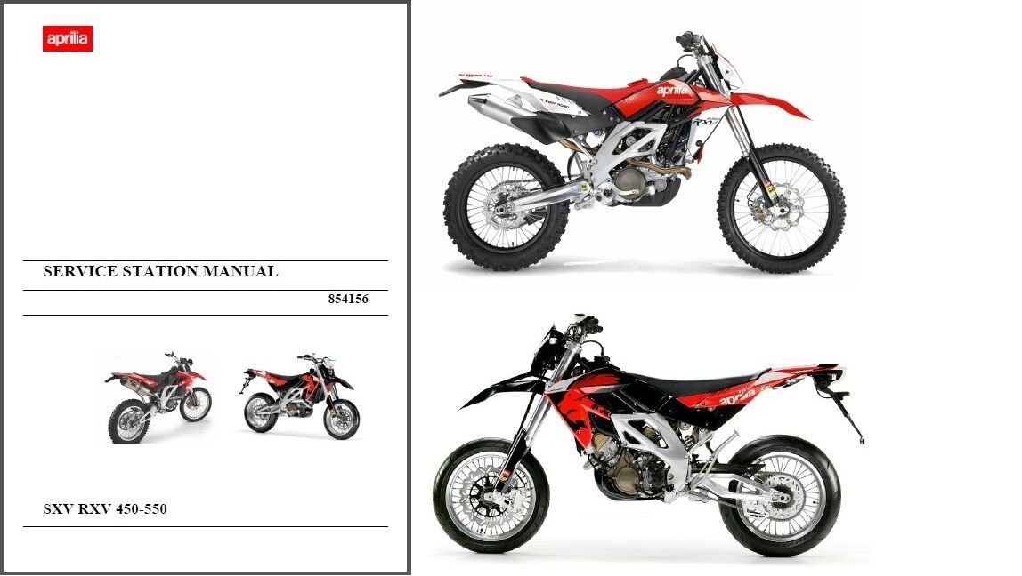 2007-2013 Aprilia RXV / SXV 450 550 Service Repair Manual on a CD ----- 4.5 5.5