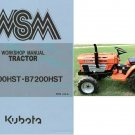 Kubota B6200HST B7200HST Tractor WSM Service Workshop Manual CD - B6200 B7200 HST