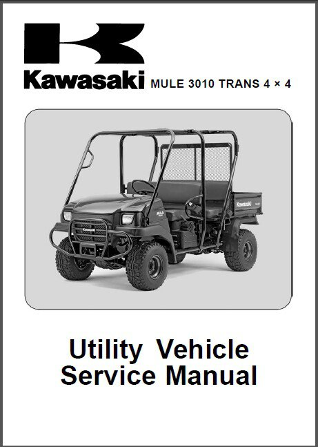 2005-2006-2007 Kawasaki Mule 3010 Trans 4X4 ( KAF620 ) Service Manual on a CD