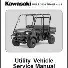 2005-2006-2007 Kawasaki Mule 3010 Trans 4X4 ( KAF620 ) Service Manual on a CD
