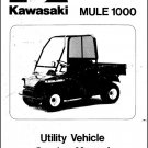 Kawasaki Mule 1000 UTV Service Repair Manual CD  ....  KAF450 KAF 450