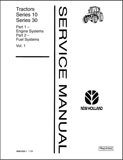 Ford New Holland 10 & 30 Series - 2600 thru 8210 Tractors Service Manual CD