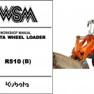 Kubota R510 Wheel Loader WSM Service Workshop Manual CD
