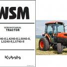 Kubota L3540-II L4240-II L5040-II L5240-II L5740-II HST/GST Service Manual CD