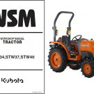 Kubota STW34 STW37 STW40 Tractor WSM Service Workshop Manual CD