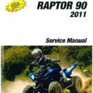 2011-2012-2013 Yamaha YFM90 Raptor 90 ATV Service Manual on a CD