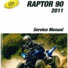 2011-2012-2013 Yamaha YFM90 Raptor 90 ATV Service Manual on a CD