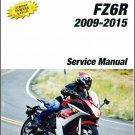 2009-2015 Yamaha FZ6R Service Repair Manual on a CD