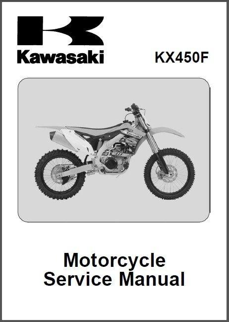 2012-2013-2014 Kawasaki KX450F Service Manual on a CD