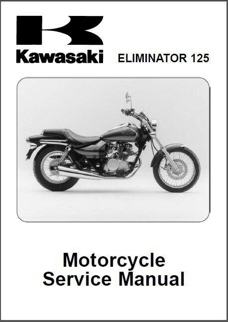 1998-2007 Kawasaki Eliminator 125 Service Manual on a CD