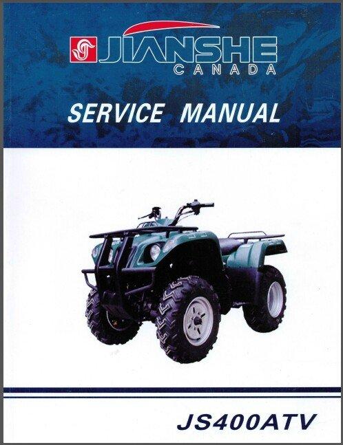 Jianshe JS400 Mountain Lion ATV Service Repair Workshop Manual CD -- JS 400