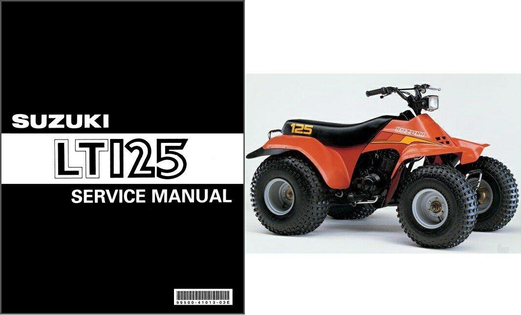 1983-1987 Suzuki LT125 QuadRunner Service Repair Manual CD .. LT-125 Quad Runner