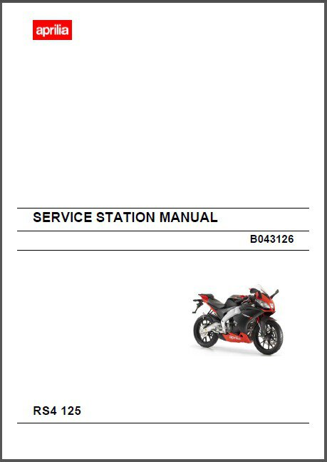 Aprilia RS4 125 Service Workshop Manual on a CD    ---   RS 4