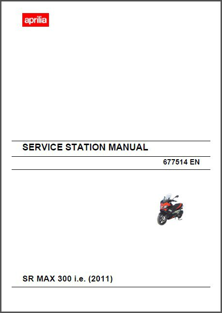 Aprilia SR MAX 300 i.e Scooter Service Workshop & Parts Manual on a CD