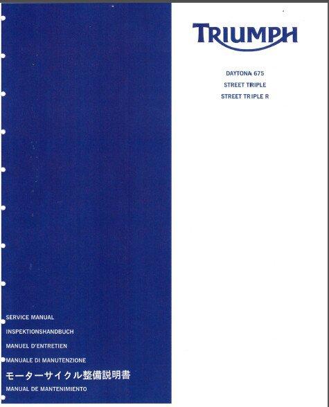 06-12 Triumph Daytona 675 / Street Triple / Street Triple R Service Manual on CD