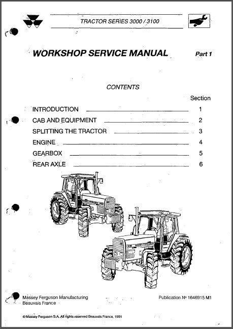 Massey Ferguson 3050 3060 3065 3070 3080 3095 3115 3120 3125 3140 Service Manual CD