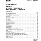 John Deere JD400 Tractor Service Repair Technical Manual CD - JD 400