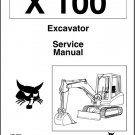 Bobcat X 100 Excavator Service Repair Manual on a CD - X100