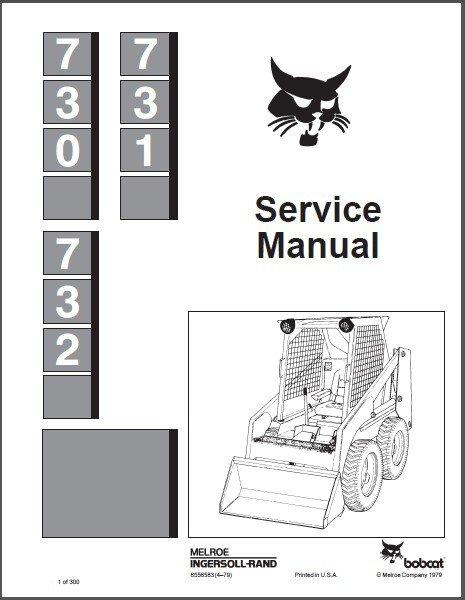 Bobcat 730 731 732 Skid Steer Loader Service Repair Manual CD