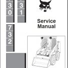 Bobcat 730 731 732 Skid Steer Loader Service Repair Manual CD