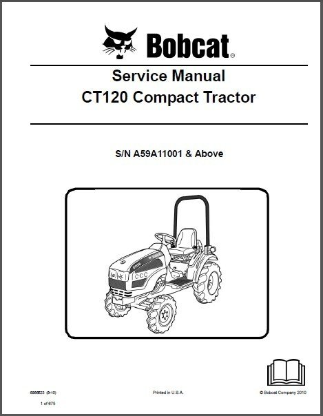 Bobcat CT120 Compact Tractor Service Manual on a CD -- CT 120