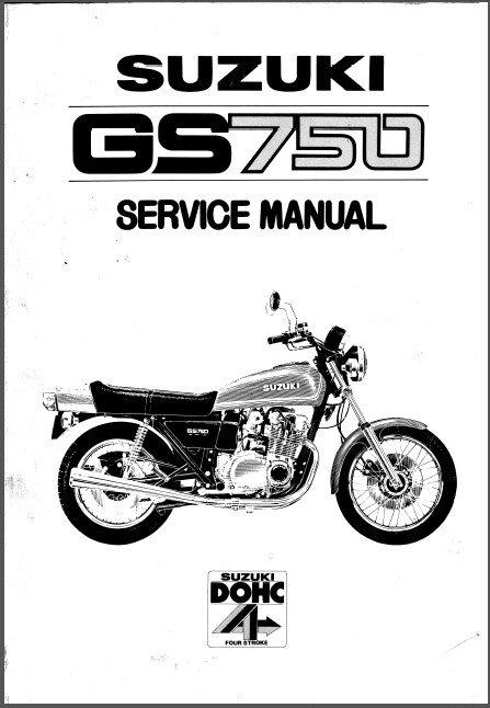 1976-1977-1978 Suzuki GS750 Service Manual on a CD --- GS 750