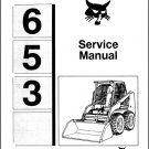 Bobcat 653 Skid Steer Loader Service Manual on a CD