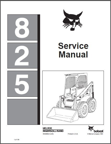 Bobcat 825 Skid Steer Loader Service Manual on a CD