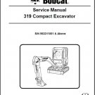 Bobcat 319 Compact Excavator Service Repair Manual on a CD