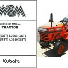 Kubota L2350 L2650 L2950 L3450 L3650 GST Tractor WSM Service Workshop Manual CD