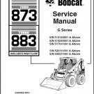 Bobcat 873 / 883 Turbo Skid Steer Loader Service Manual on a CD