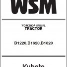 Kubota B1220 B1620 B1820 Compact Tractor WSM Service Workshop Manual CD