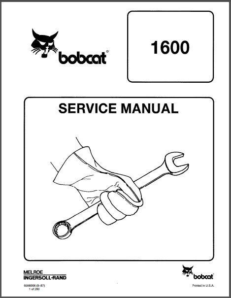 Bobcat 1600 Loader Service Manual on a CD