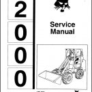 Bobcat 2000 Articulating Wheel Loader Service Manual on a CD