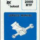 Bobcat 2000 RTF Wheel Loader / Forklift Service Manual on a CD