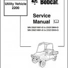 Bobcat 2200 Utility Vehicle UTV Service Manual on a CD