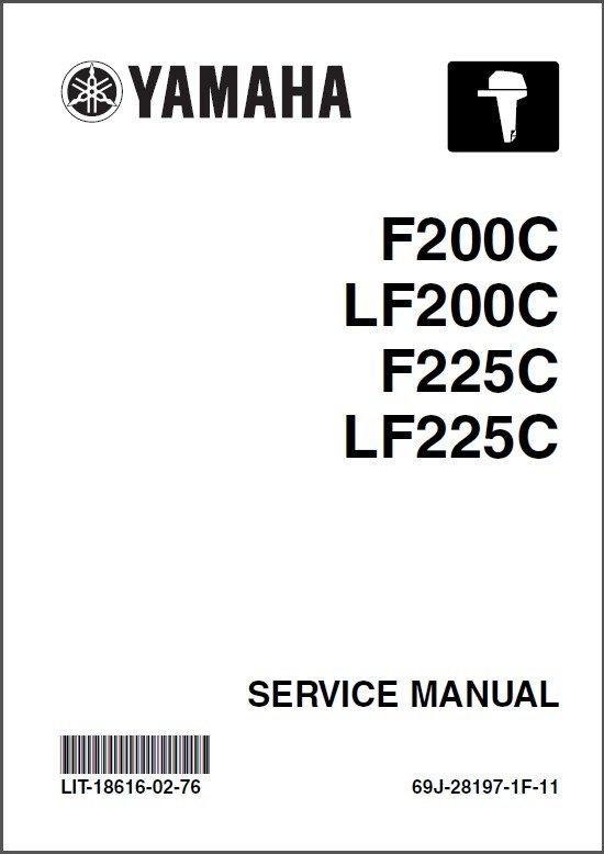 Yamaha F200 LF200 F225 LF225 4-Stroke Outboards Service Repair Manual CD