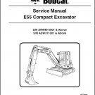 Bobcat E55 Compact Excavator Service Repair Manual on a CD